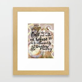 literature and poetry - infernal devices Framed Art Print