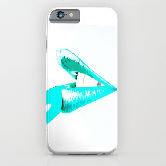CYAN LIPS iPhone & iPod Case