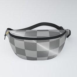 Bright Polished Titanium Metal Chess Board Fanny Pack