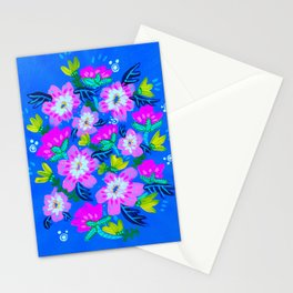 Blush Pink Blooms Stationery Cards
