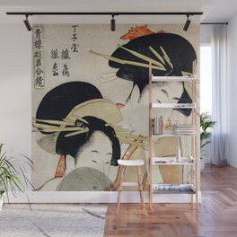 The Two Girls Wall Mural