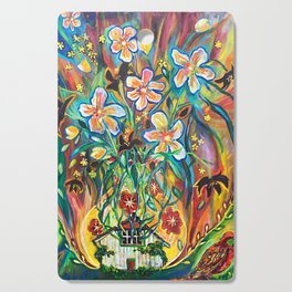 House in Bloom Cutting Board