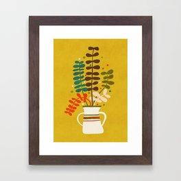 Potted Leaves Framed Art Print