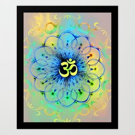 """The higher power of Om"" - sacred geometry Art Print"