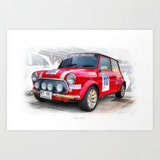 Red Mini #10 Art Print