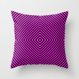 Pink and Black Diamond Throw Pillow