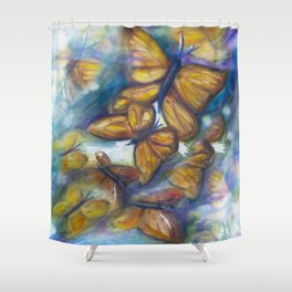 Shaded Wings Shower Curtain