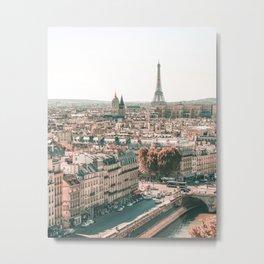 Paris City Overview Metal Print