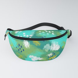 Grunge Painting in Sea Green Fanny Pack