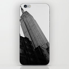 Empire State Building in Black and White iPhone Skin