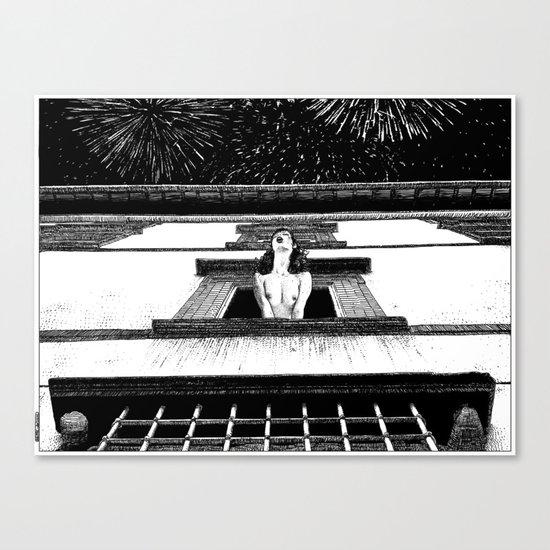 asc 445 - La célébration privée (The private New Year's party) Canvas Print