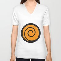 naruto V-neck T-shirts featuring Naruto Suit by bivisual