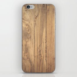 Wooden Background iPhone Skin