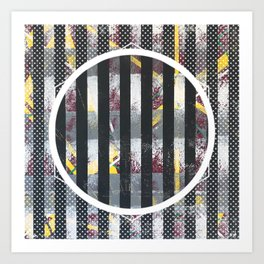 Polarized - dot graphic Art Print