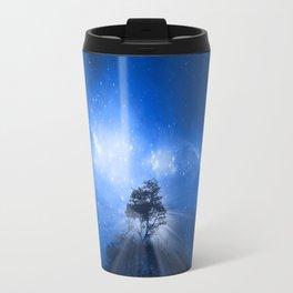 blue night landscape Travel Mug