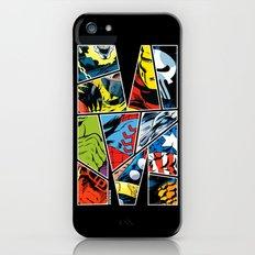 Classic comic heroes iPhone (5, 5s) Slim Case