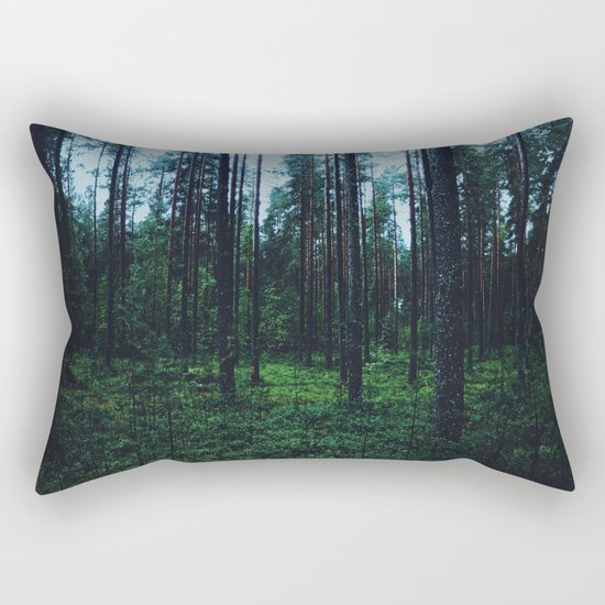 mysterious woods Rectangular Pillow