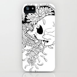 Skull (Pushing Up Daisies) iPhone Case