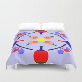 Table Tennis Design Duvet Cover
