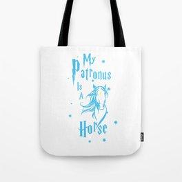 Horse Patronus Tote Bag