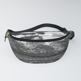 Mountain Summer Escape - Black and White Tetons Fanny Pack