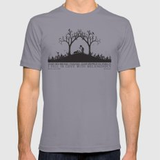 Edgar Allan Poe Black and White Illustrated Quote  Mens Fitted Tee Slate X-LARGE