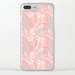 Tender Leaves Clear iPhone Case