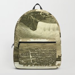 NIAGARA FALLS New-York city old map Father Day art print poster Backpack
