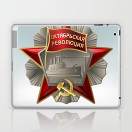 Soviet order of the October Revolution on a bright background. Laptop & iPad Skin