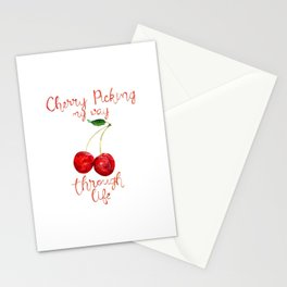 Cherry Picking my way through life Stationery Cards