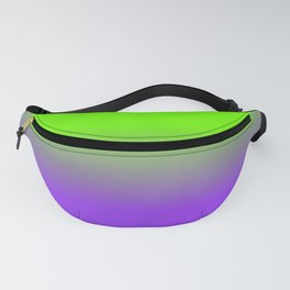Neon Purple and Neon Green Ombré  Shade Color Fade Fanny Pack