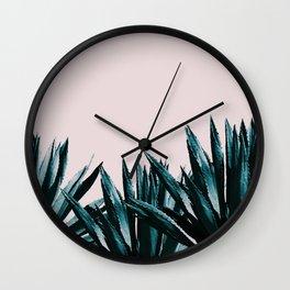 Pastel agave Wall Clock