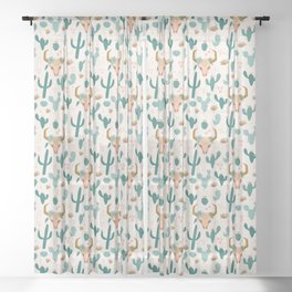 Desert Skull Sheer Curtain