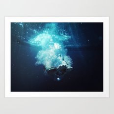 Beneath the Water Art Print