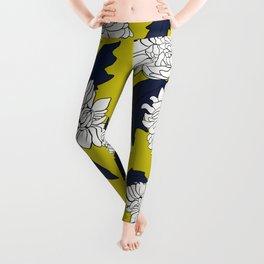 Yellow paeony Leggings
