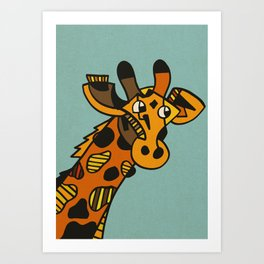 Worlds Tallest Horse. Art Print