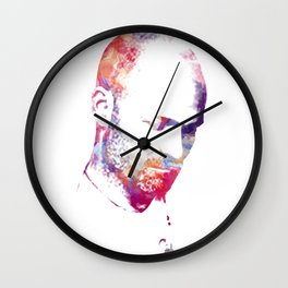 Downie Watercolour Portrait Wall Clock