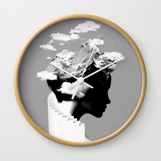 It's a cloudy day Wall Clock