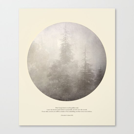 love the woods Canvas Print