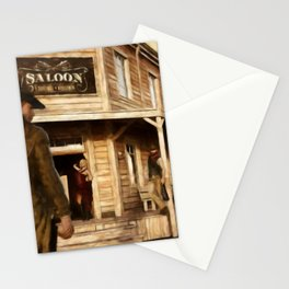 SALOON Wild West Cowboy Stationery Cards