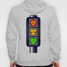 Yes No Maybe Traffic Lights Hoody