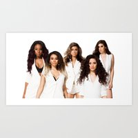 fifth harmony Art Prints featuring Fifth Harmony by Raquel S