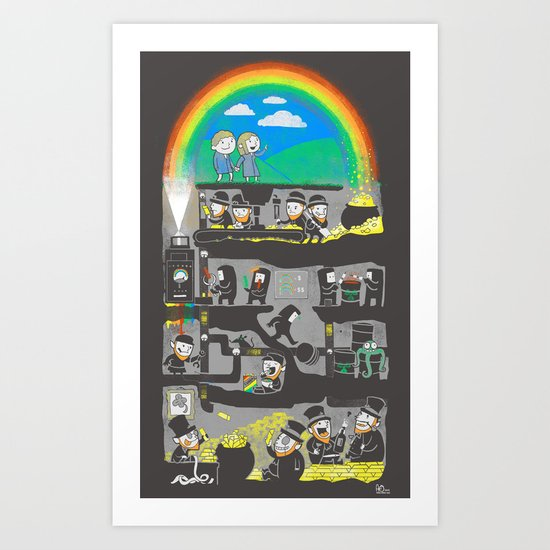 End of the Rainbow Art Print