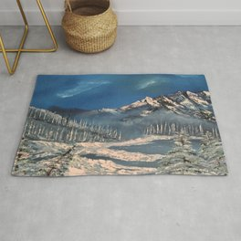 Ice Fields - winter day Rug