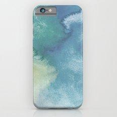 Watercolor blue iPhone 6s Slim Case