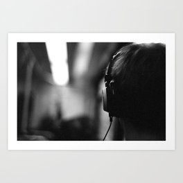 Headphones Art Print