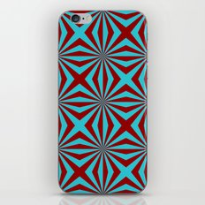 Sunbeams in Turquoise and Red tiled iPhone & iPod Skin