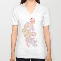 sailor venus V-neck T-shirts featuring Sailor Venus by Dixie Leota
