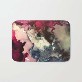 Dark Inks - Alcohol Ink Painting Bath Mat