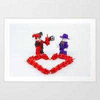 valentines Art Prints featuring Valentines by InkBlot